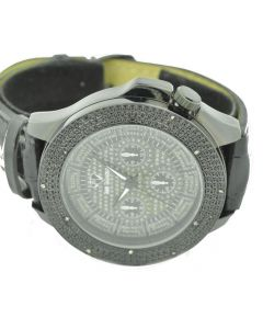 Diamond Watch Mens ICE MANIA 10 Diamonds Black Metal