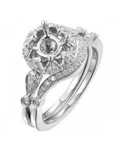 14k White Gold Round Diamond Solitaire Ladies Bridals Semi-Mount 0.77CT