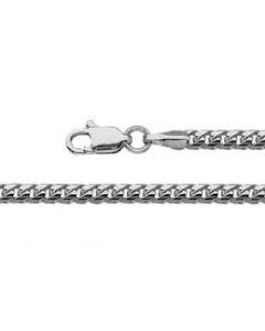 10K White Gold Franko Chain Box 2mm Wide available 16
