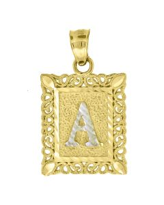 10kt Two-Tone Gold Womens Letter