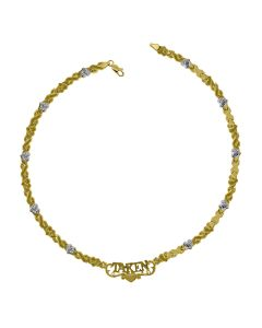 10kt Two-Tone Gold Womens X and Heart
