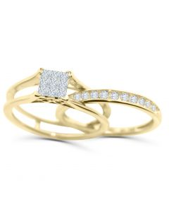 10K Gold Wedding Ring Set 0.50ct w Diamonds