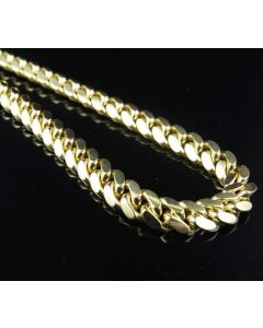 10K Yellow Gold 6 MM Miami Cuban Chain Heavy Link Necklace 26-36 Inches