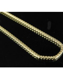 10K Yellow Gold Franco Box Link Chain Necklace 1.5 MM 16-30 Inches
