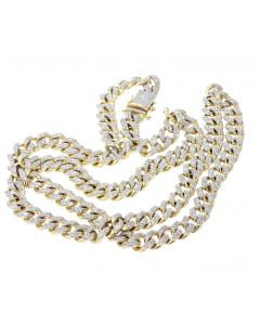 14K Gold Miami Link Chain 26