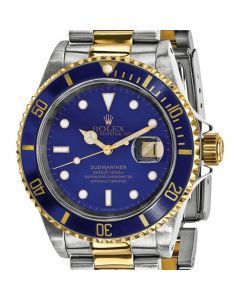 Rolex Submariner Certified Pre-Owned 18K YG & Stainless Mens Blue Dial Watch