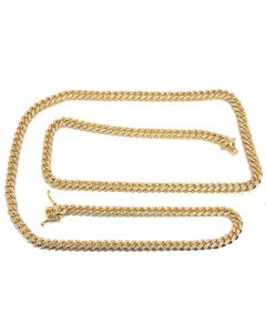 Miami Cuban  Curb Rope Link Chain 26 Inches 84 Grams