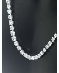 5.00ctw Diamond Tennis Necklace in Platinum For Her 17 Inch Long