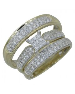 Trio Bridal Ring - 1.15CT 10k in yellow gold