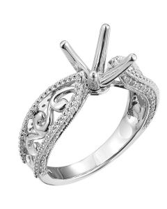 0.20 CT Vine Diamond Mount Engagement Ring