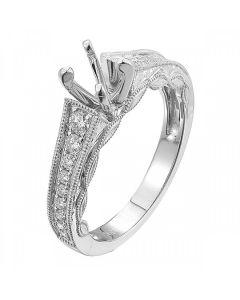 0.30 ct Ladies Diamond Semi Mount Ladies Bridals Ring in 18 kt White Gold