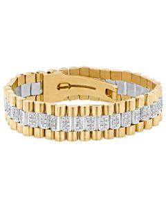 14K Gold / White Gold Rolex Style Diamond Bracelet Custom 2.5ctw