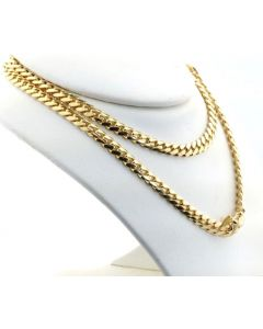 10K SOLID YELLOW GOLD 5MM WIDTH MIAMI CUBAN LINK CHAIN 20- 26