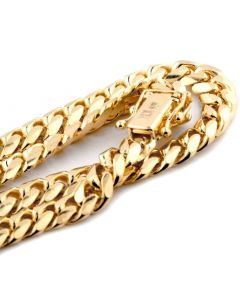 10K SOLID YELLOW GOLD 6MM WIDTH MIAMI CUBAN LINK CHAIN 20- 30