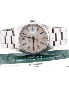 Mens Stainless Steel Rolex Datejust 16030 PreOwned Mint 36mm Oyester Band