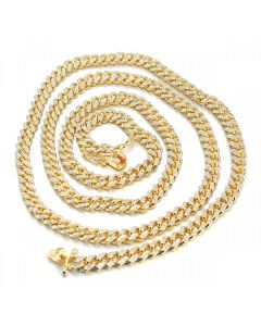 10K Heavy Miami Cuban Link Chain 32 Inches 91.68Grams